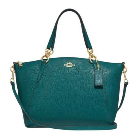 a57e2b7c7409 COACH Pebble Leather Small Kelsey Satchel Crossbody Bag DARK TURQUOISE  295   fashion  clothing  shoes  accessories  womensbagshandbags ...