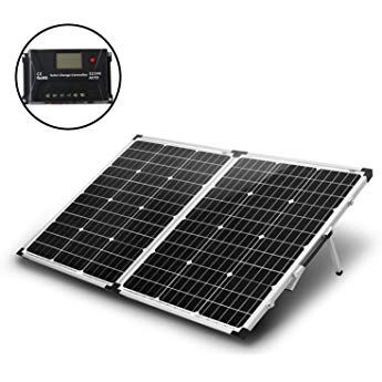 Komaes 100 Watt 12v 24v Monocrystalline Portable Folding Solar Panel Suitcase With Energy Efficient Technology Includes Pwm Solar Panels Roof Solar Panel Solar