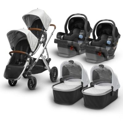 Uppababy 2018 2019 Vista Twin Travel System Babies Stone Twin