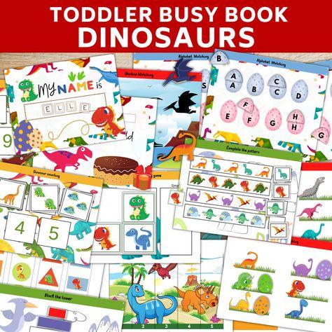 Dinosaurs Busy book printable Preschool binderpreschool   Etsy