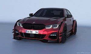 2020 Bmw 3 Series Rendered With Race Car Concept Kit For Whatever