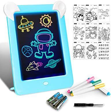 Tableta De Dibujo Pizarra 3d Magico Con Luces Led Educativo Infantil Dibujo Juguetes Para Ninas Juguetes Juguetes Educativos