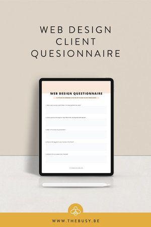 Client Questionnaire The Busy Bee In 2020 Web Design Quotes Design Clients Web Design Tips