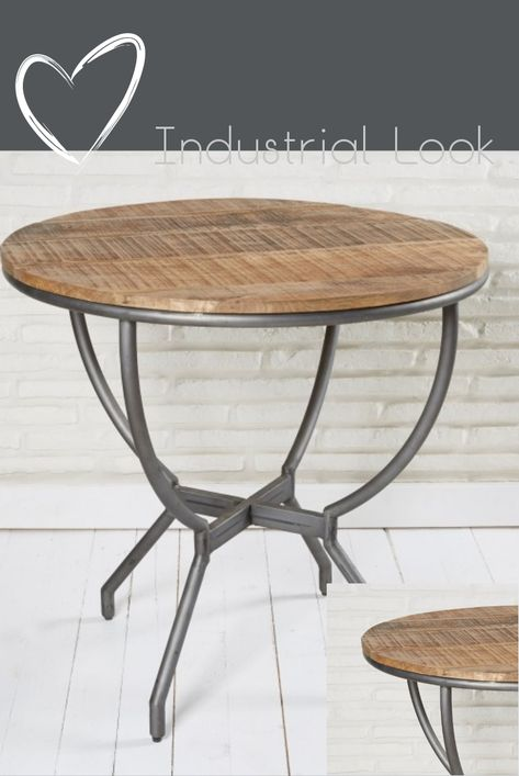 Esszimmertisch Rund 78 Cm Holz Metall Esstisch Runder Tisch Retro
