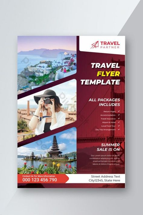 Tour & Travel Flyer Design Template | EPS Free Download - Pikbest