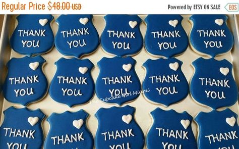 Special cookies for your special police theme party! This listing is for 1 dozen (12 cookies) - Racing Cars cookies. The set includes 12 police car cookies.