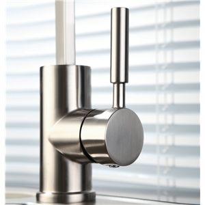 キッチン水栓 台所蛇口 冷熱混合栓 水道蛇口 シンク水栓 ヘアライン