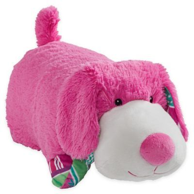 Pillow Pets Colorful Puppy Pillow Pet In Pink Animal Pillows