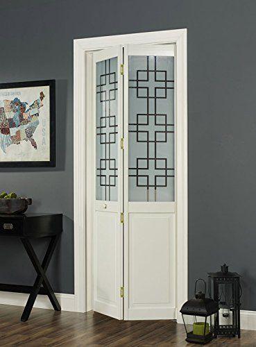 Amazon Com Pinecroft 855726 Symmetry Half Glass Bifold Interior Wood Door 30 X 80 Unfinished Home I Bifold Doors Wood Doors Interior Bifold Door Hardware