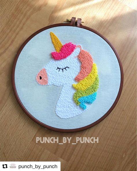Çok sevdiğimle #tbt yapalım . . .#Repost @punch_by_punch with @get_repost ・・・ Unicorn aşkına ✨ #punchneedle #punch #kanaviçe #etaminpano…
