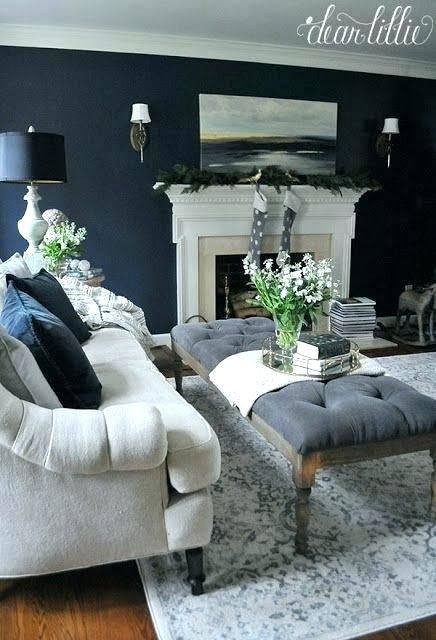Navy And Grey Living Room Decor