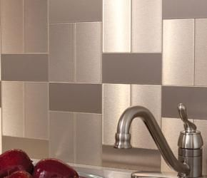 Magnificent Self Adhesive Stainless Steel Backsplash Tiles Dsp Beutiful Home Inspiration Truamahrainfo