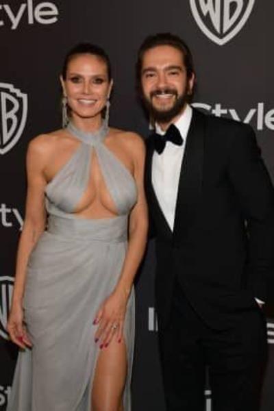 Heidi Klum zeigt Mega-Dekolleté auf After-Show-Party der Golden Globes Heidi Klum and her then fiancee Tom Kaulitz at the Golden Globes Aftershow Party