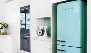 Smeg Kühlschrank Retro Günstig : Pictured: smeg 330 lt retro refrigerator kitchens pinterest