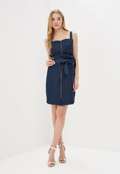 b4819148b2ce8 Платье джинсовое LOST INK DENIM SHORT SLEEVE FIT AND FLARE DRESS за 973  грн. в
