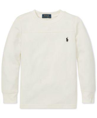 239a937e8 Polo Ralph Lauren Toddler Boys Long-Sleeve T-Shirt - Windsor Heather 2 2T