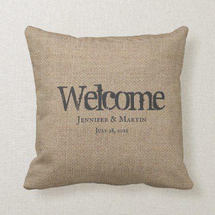 Rustic Burlap Throw Pillow Rustic Wedding Marriage Love Cyo Throw Pillows Custom Burlap Burlap Throw Pillows