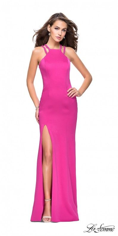 Timeless and trendy, this Classic Beaded Double Strap Prom Dress by ...