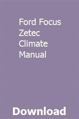 Ford Focus Zetec Climate Manual Ford Focus Ford Focus Zetec New Ford Focus
