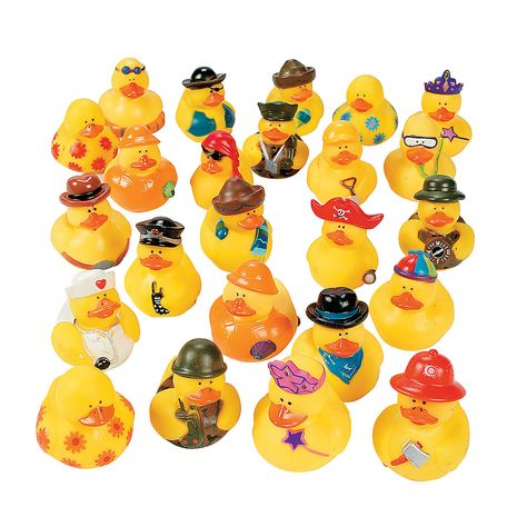 Mega Rubber Ducky Assortment - OrientalTrading.com 42.00 pr 100