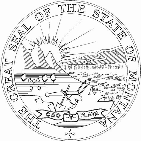 Montana State Flag Coloring Page Elegant Montana Flags Emblems Symbols Outline Maps Flag Coloring Pages State Flags Coloring Pages