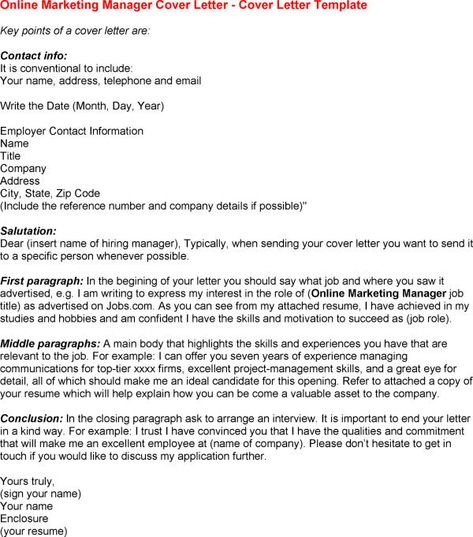 Online Marketing Job Cover Letter Tips To Writing Articles - online cover letter template