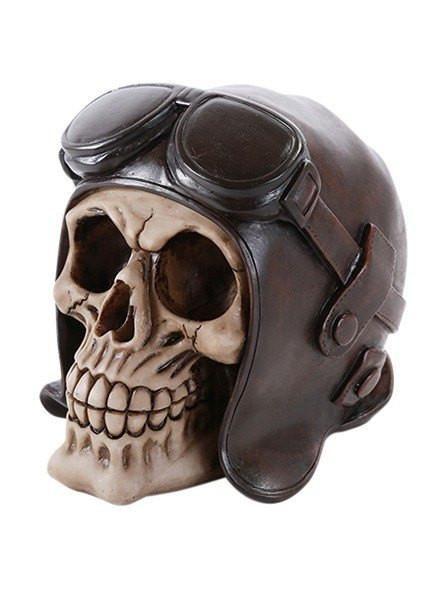 Steampunk Gothic Robotic SKULL Top Hat /& Goggles Skeleton HEAD Sculpture Decor