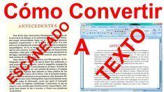 Como Convertir Una Imagen Escaneada A Texto Word Sin Programas Fácil Textos Aprender Informatica Consejos útiles
