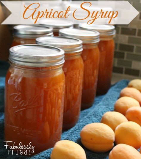 Recipe for homemade apricot syrup and directions for canning it.