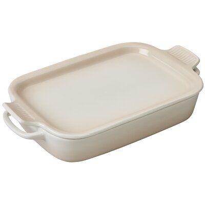 Le Creuset Stoneware Rectangular Baking Dish With Lid In 2021 Baked Dishes Le Creuset Stoneware Dishes Le creuset rectangular baking dish