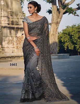 Attractive Saree Designer Bollywood Indian Sari Party Wedding