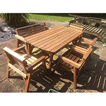 Wooden Garden, Round Wooden Garden Table And Chairs Ireland
