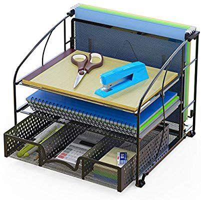 Amazon Com Simplehouseware Desk Organizer 3 Tray W Sliding