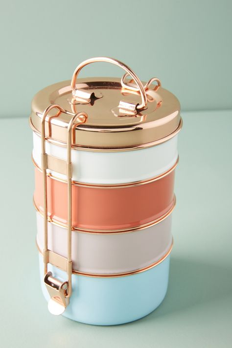 Too late to purchase this Tiffin Box set from Anthropologie, but I wish I had known about it when it was available! Who wouldn't want to eat lunch out of these?