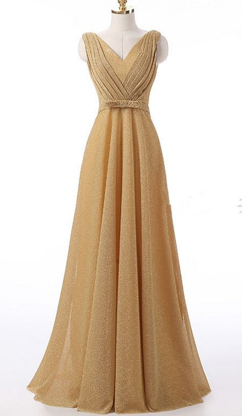 sexy Champagne color long gown is...