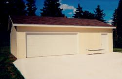 The 26 X 32 X 9 2 Car Garage Features One 16 X 7 Overhead Garage Door And A Prehung Entry Door The Garage Has With Images Overhead Garage Door Car Garage