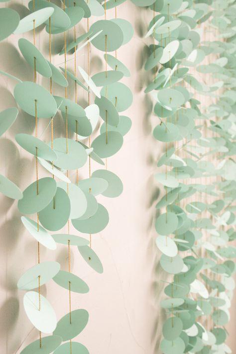 DIY Paper Punch Backdrop http://ruffledblog.com/diy-paper-punch-backdrop #diyprojects #weddingdiy