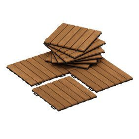 12 X 12 27 Pcs Patio Pavers Interlocking Wood Tiles Wood Flooring Tiles Indoor Outdoor For Patio Garden Deck Poolside Walmart Com In 2020 Interlocking Deck Tiles Deck Tile Outdoor Flooring