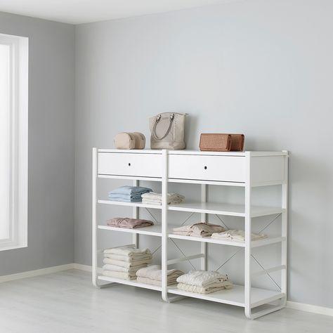 Elvarli Seitenteil Weiss In 2020 Elvarli Ankleidezimmer Selber Bauen Und Ikea Elvarli
