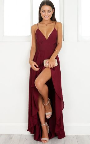 prom dresses, Maroon prom dress