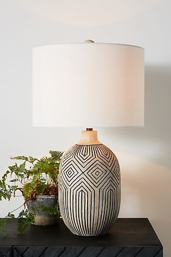 Uteki Painted Table Lamp In 2020 Modern Lamp Room Lamp Painting Lamps