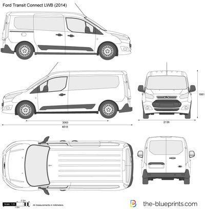 Resultado De Imagen De Vector Ford Transit Connect Ford Transit