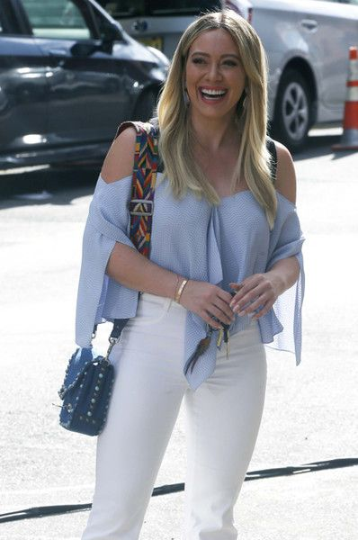"""Hilary Duff films """"Younger"""" in Brooklyn on June 26, 2017."""