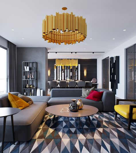 Yellow and Gold | Apartment design from designers Elvin ...