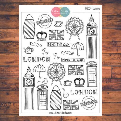 One sheet of London stickers! These planner stickers are designed to fit various planners including but not limited to Erin Condren, Happy Planner, Day Designer, Inkwell, Plum Paper and Filofax! - Each sheet is approximately 5.7 x 4.3 inches (or 14.5 x 11 cm). - All stickers are