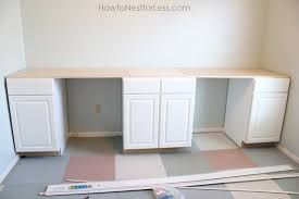 Custom Desk Build Part Two Diy Without Fear Ikea Home Office Home Office Cabinets Ikea Home