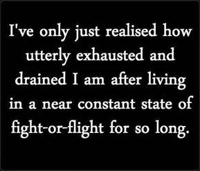 Feeling exhausted after Narcissistic Abuse? It is incredibly common to feel immobilised, guttered and barely able to function in the aftermath of narcissistic abuse. Especially when you have broken away, and are no longer tied up in the fight of survival. Every day normal tasks may seem beyond comprehension, let alone being able to do them. In fact many people can't function, they may have to stop working, or may even succumb to being hospitalised. Find out why in this blog and how to recover.