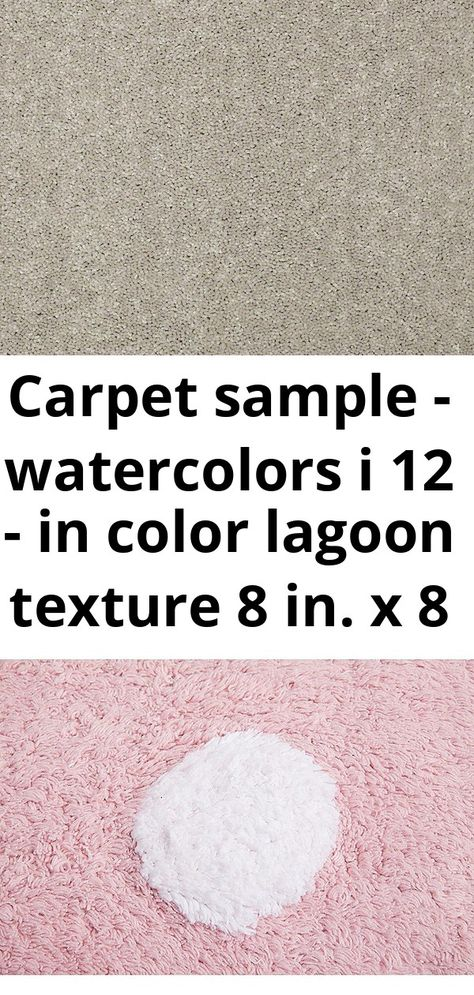 Carpet sample - watercolors i 12 - in color lagoon texture 8 in. x 8 in