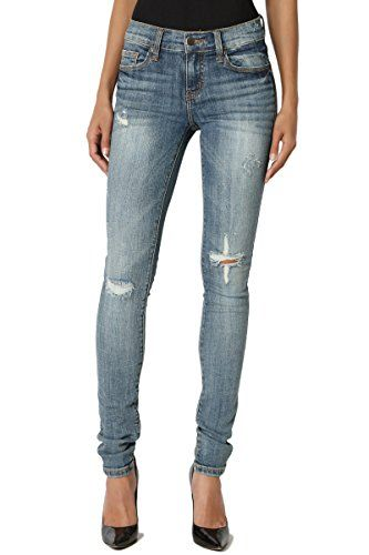 5076c366762d1 New TheMogan TheMogan Faded and Distressed Dark Blue Washed Low Rise Stretch  Skinny Jeans womens Jeans. [$30.99] perfecttopbuy.ga offers on top store