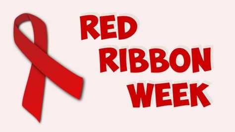 45++ Red ribbon week clipart black and white info